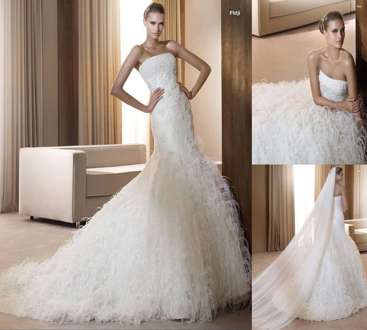 Feathers wedding dress peacock feathers pinterest for Wedding dress with ostrich feathers