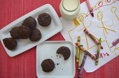 Whole Wheat Double Chocolate Brownie Bites — Punchfork