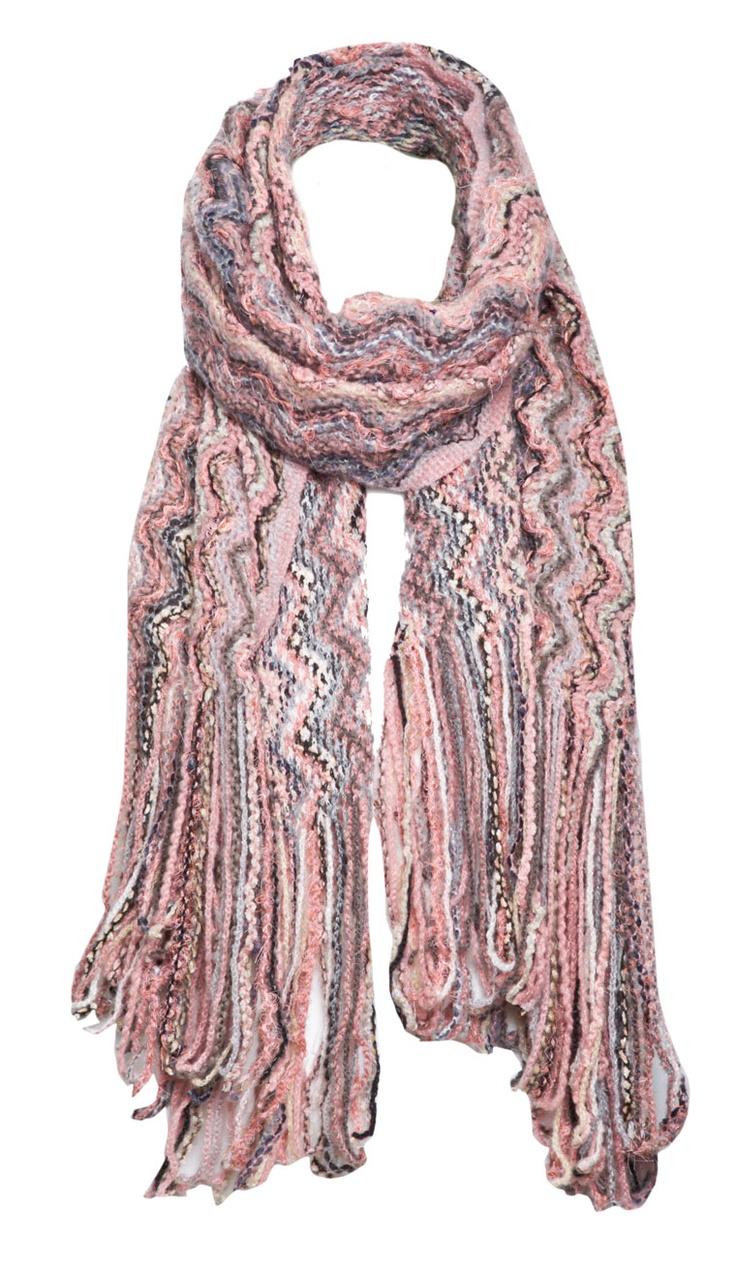 Crochet Zig Zag Scarf : Knitted Scarves