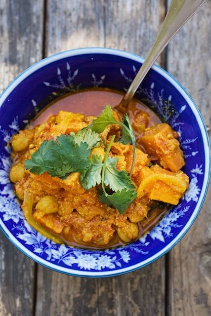 Sweet Potato and Chickpea Curry | Indian Cuisine | Pinterest