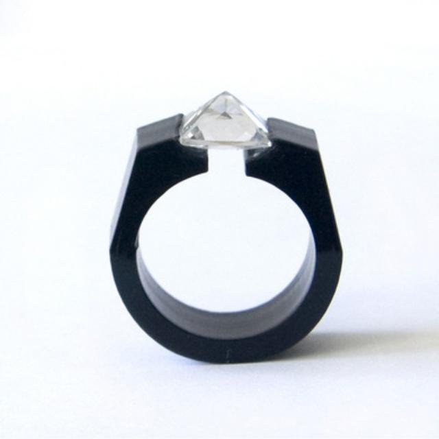 Geometric engagement ring weddings pinterest for Geometric wedding ring