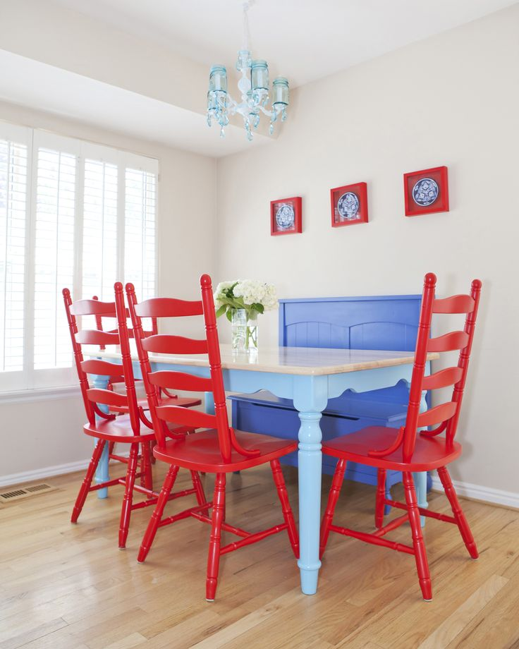 Turquoise kitchen table and red chairs turquoise house for Teal kitchen table