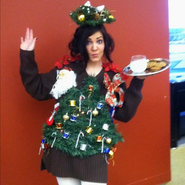 homemade tacky christmas sweater holidays pinterest