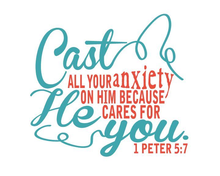 Free Printable {Memory Verse Mania}:  Cast all your anxiety on him...I Peter 5:7