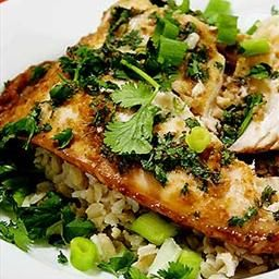 Ginger and Cilantro Baked Tilapia | eat | Pinterest