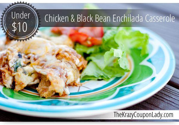 Chicken & Black Bean Enchilada Casserole | FOOD & DRINK | Pinterest
