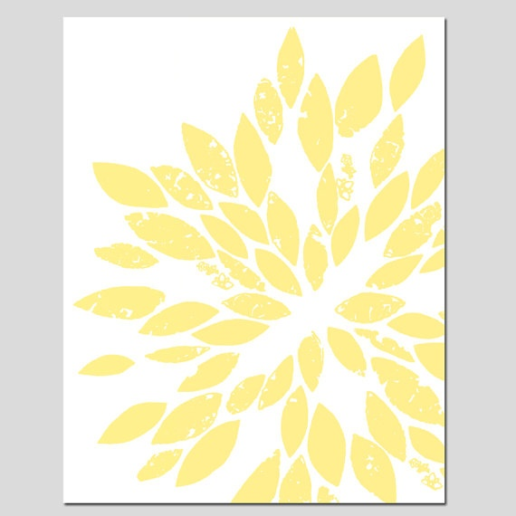 Abstract Botanical Floral Art - 8x10 Print - Modern Decor - Pale Yell ...: pinterest.com/pin/13440498860537488