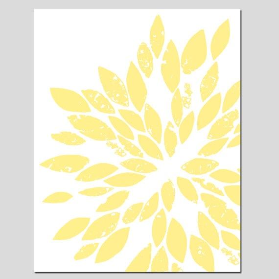 Abstract Botanical Floral Art - 8x10 Print - Modern Decor - Pale Yell ...: pinterest.com/pin/13440498860537488