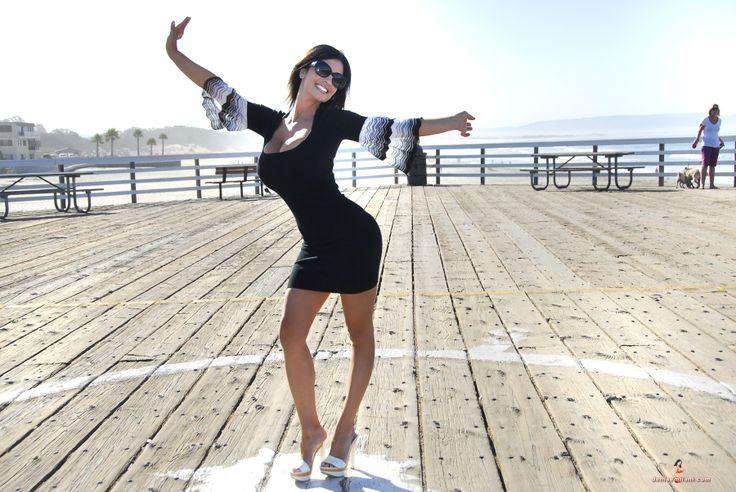 denise milani blue dress - photo #45