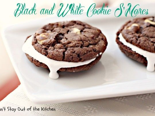 Black and White Cookie S'mores | Cookies | Pinterest