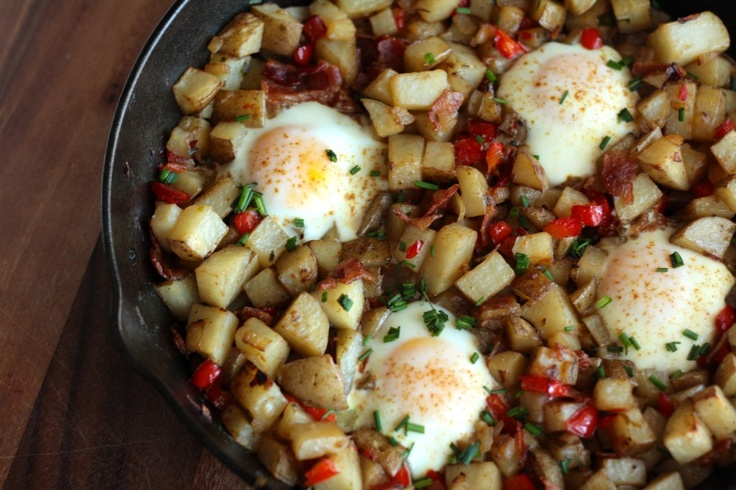 Skillet Potatoes and Eggs | Recipes - Breakfast | Pinterest