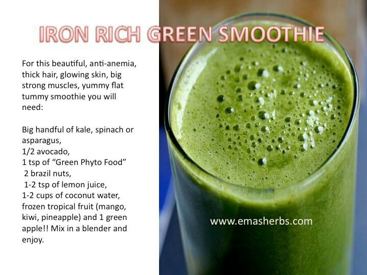 Iron rich smoothie | Sip slowly | Pinterest