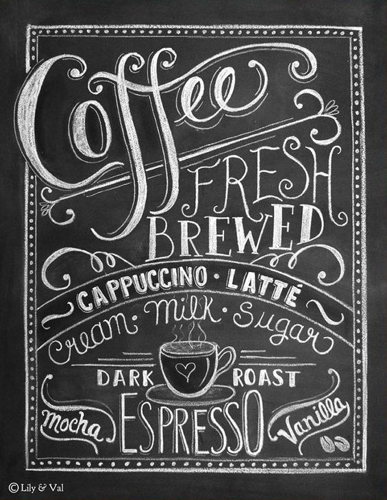 Coffee Love Chalkboard Art