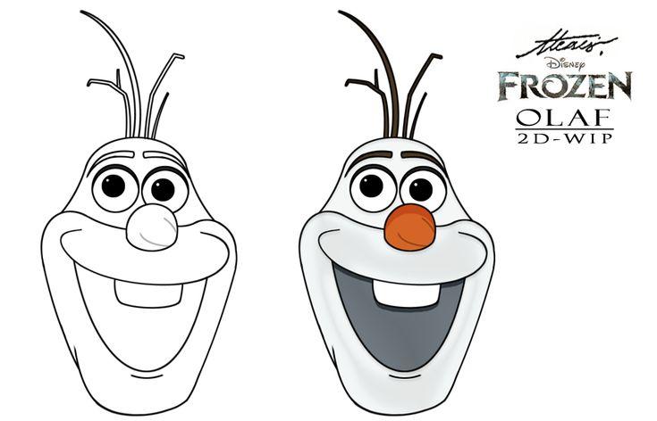 Alfa img - Showing > Frozen Olaf Face Cutout