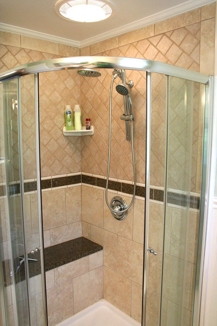 Corner Shower Stand Up Shower Pinterest
