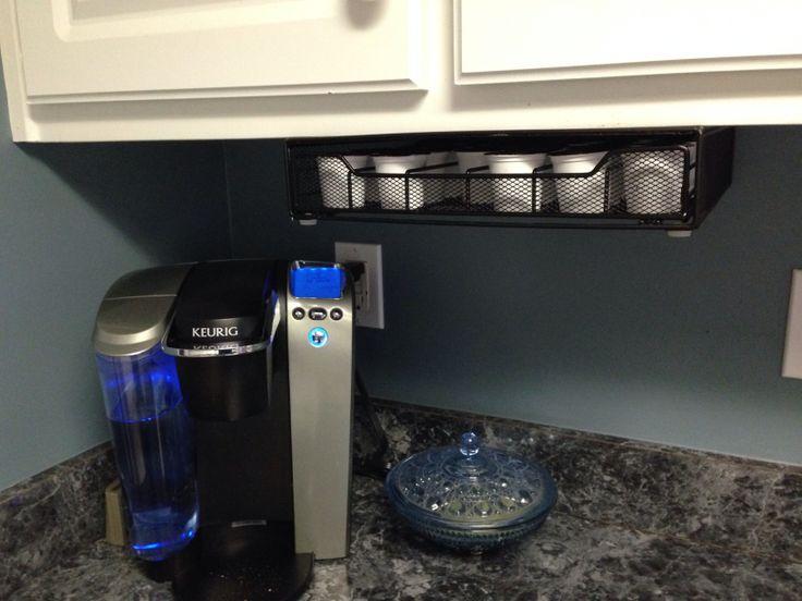 diy mounted k cup holder diy knock offs d saving pinter. Black Bedroom Furniture Sets. Home Design Ideas