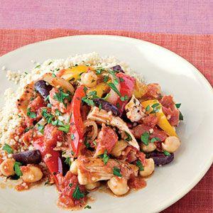 Mediterranean Chicken Stew With vegetables, chickpeas, chicken and ...