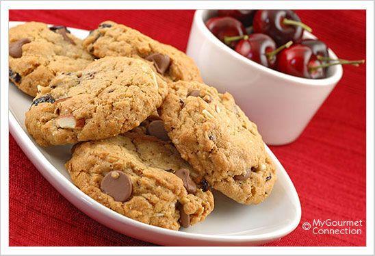 Chocolate Cherry Almond Oatmeal Cookies | Recipes/Cookies, Bars ...