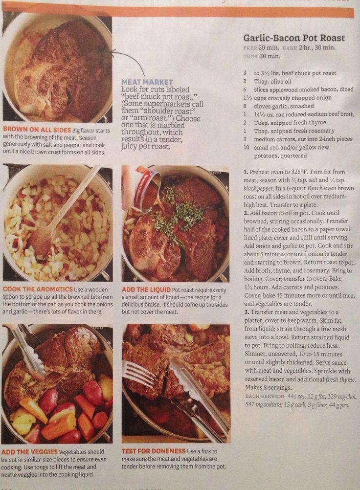 Garlic Bacon Pot Roast | Recipes | Pinterest