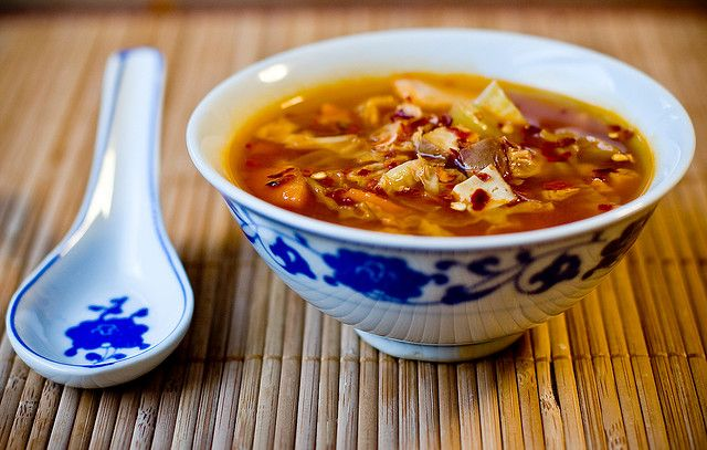 Vegan) Hot and Sour Cabbage Soup~ | Soups & Stews: Vegan~ | Pinterest