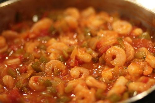 Shrimp Creole-very good!!! A little hot for my taste, but my hubby ...