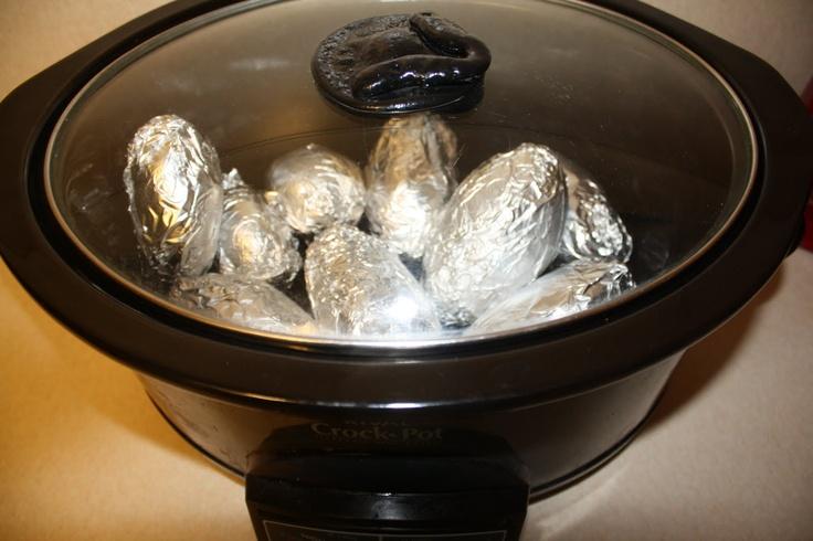 Crock Pot Baked Potatoes | Slowcooker/Crockpot | Pinterest