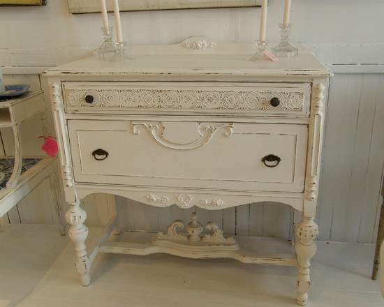 distressed white Furniture Facelifts