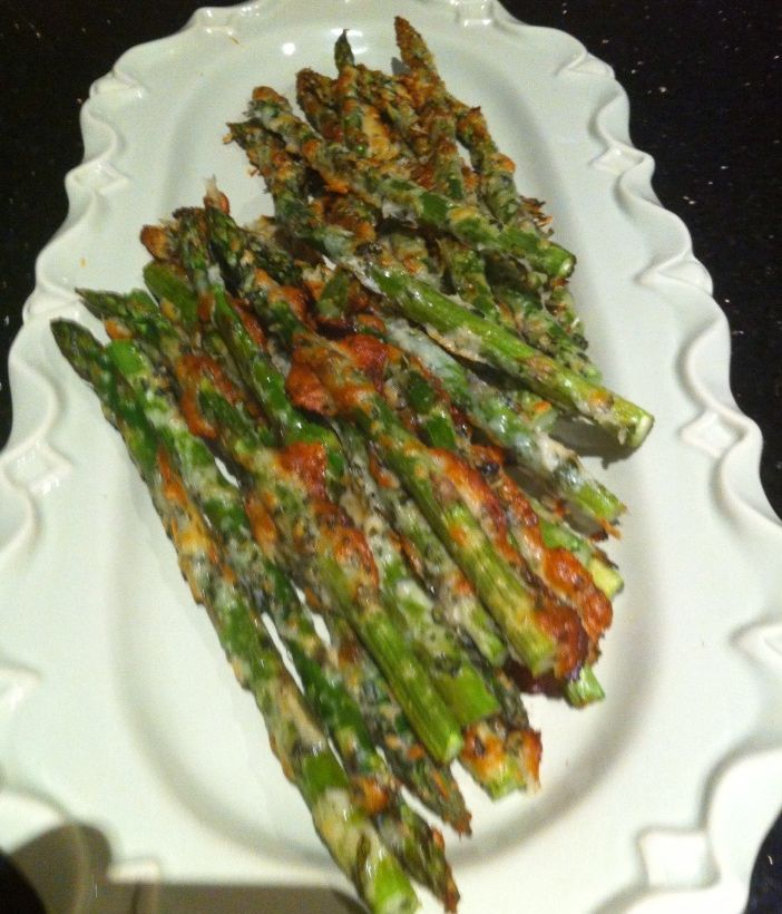 Parmesan crusted oven baked asparagus! | YUM .♥♥ | Pinterest