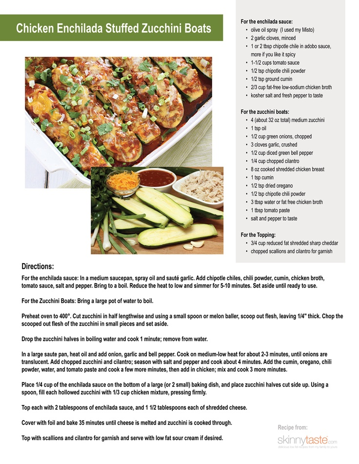 Chicken Enchilada Stuffed Zucchini Boats | Foodie | Pinterest
