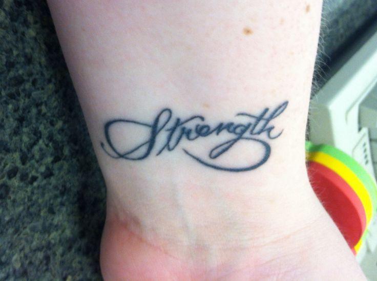 My wrist tattoo-- infinity/strength