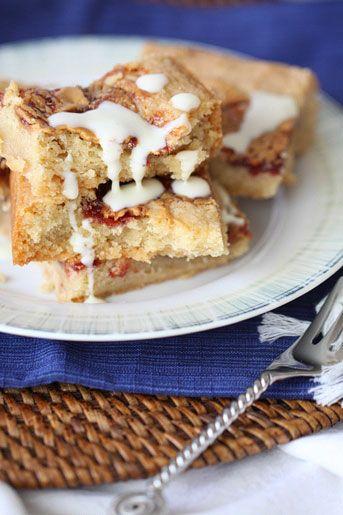 pb&j shortbread cookie bars | Foooood | Pinterest
