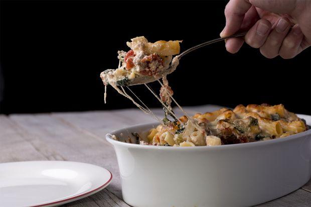 sausage and kale pasta bake.