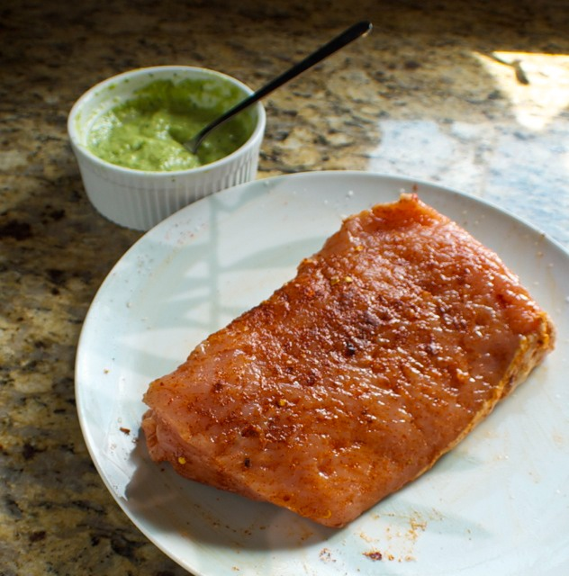 Spice Rubbed Pork Tenderloin with Salsa Verde | BetsyLife