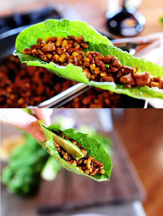 vegetarian lettuce wraps (I'd minus the tofu and replace with sweet ...