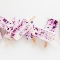 Roasted Berry and Honey Yogurt Pops | Recipe