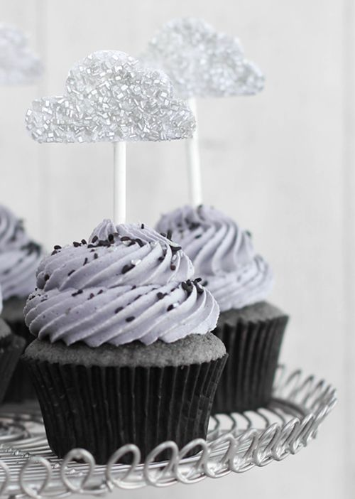 Black Sesame #Cupcakes with Lemon Curd from Sprinkles Bakes
