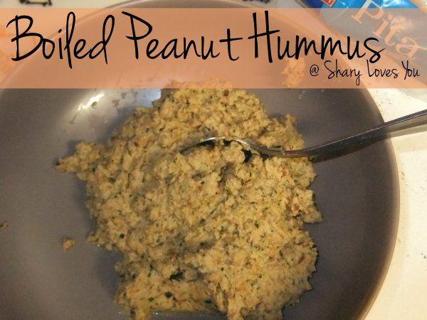 Shary Loves You: Boiled Peanut Hummus | Gluten Free Treats | Pinterest