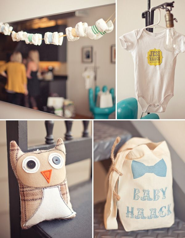 real parties darling bow tie baby shower hostess with the mostess
