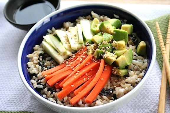 Veggie Sushi Bowl | Yum | Pinterest