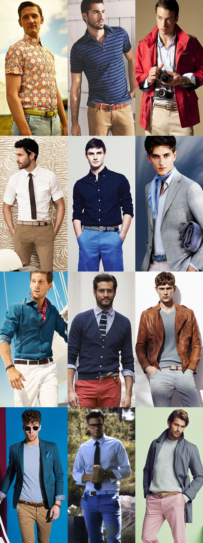 CASUAL BELTS Men's Casual Belt Outfit Inspiration Lookbook