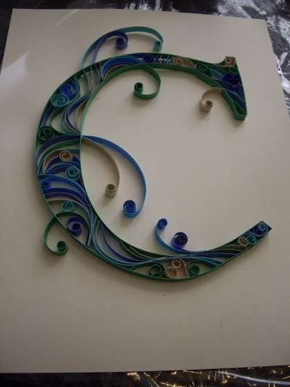 quilling initials- instructional guide