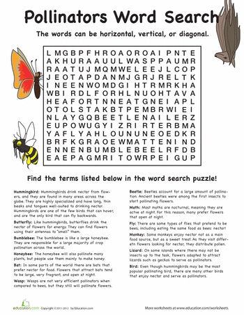 flowers in love pollinators word search. Black Bedroom Furniture Sets. Home Design Ideas