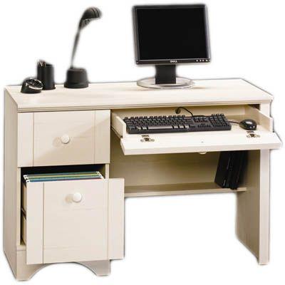 Sauder Harbor View Computer Desk - Antique White