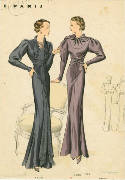 1937 fashion illustrations