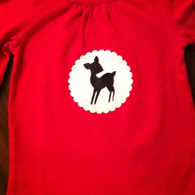 Rudolph shirt in red
