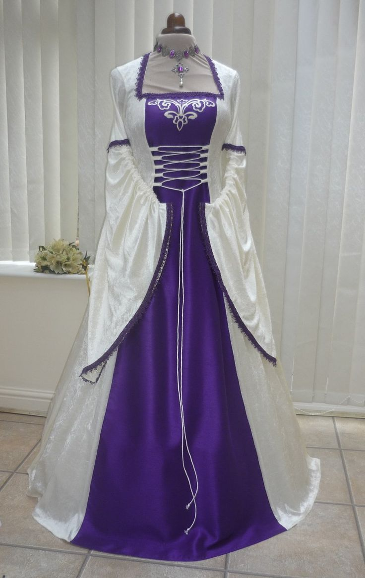 Pin by k schroeder on october wedding pinterest for Purple and ivory wedding dresses