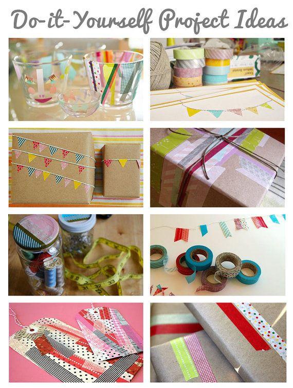 Washi masking tape project ideas for Washi tape project ideas