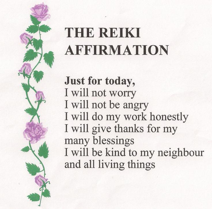 Reiki affirmation for prosperity