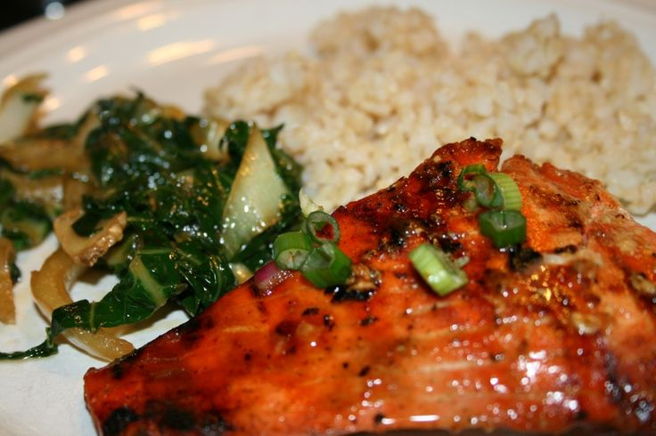 Maple BBQ Salmon with Baby Bok Choy! This recipe is FANTASTIC!