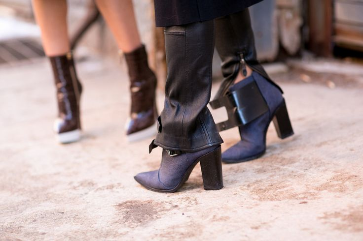 Best Street Style Shoes and Bags NY Fashion Week Fall 2014 ----  Get Up Close With Street Style's Best Accessories >>> Tibi boots lend that perfectly polished kind of cool.